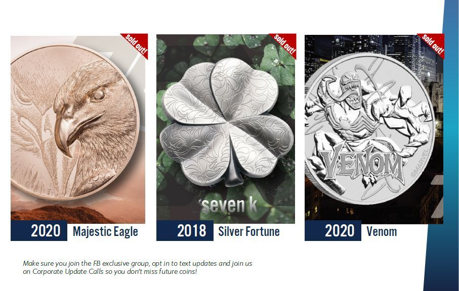 recent coin sales from 7k metals