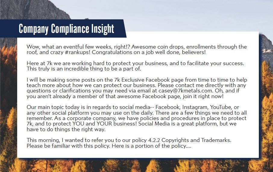 7k metals company compliance