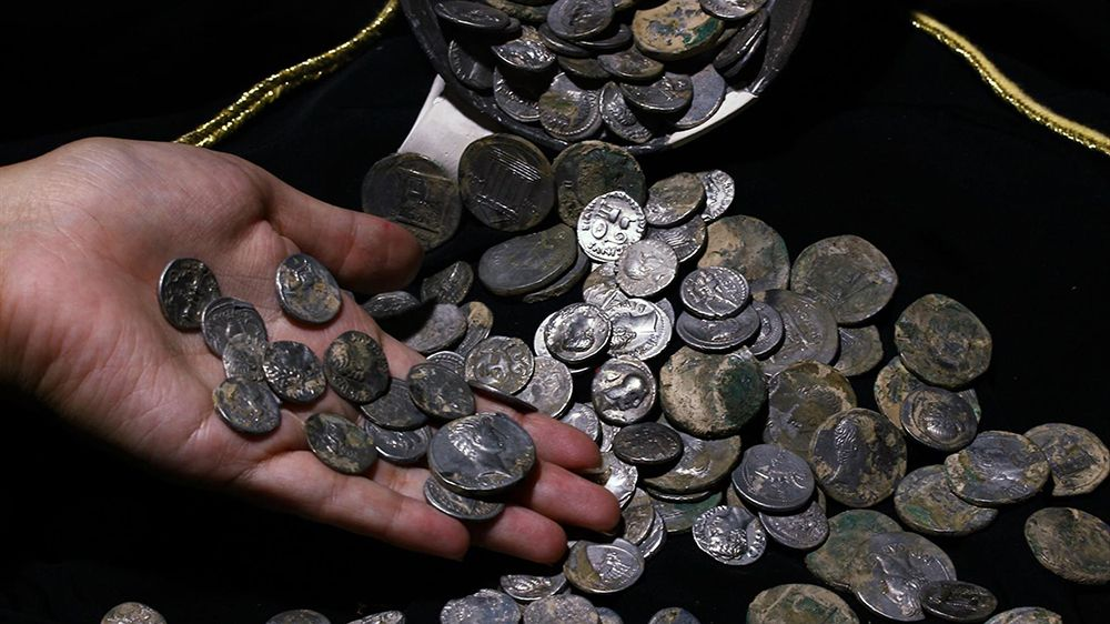 ancient roman coins discovered