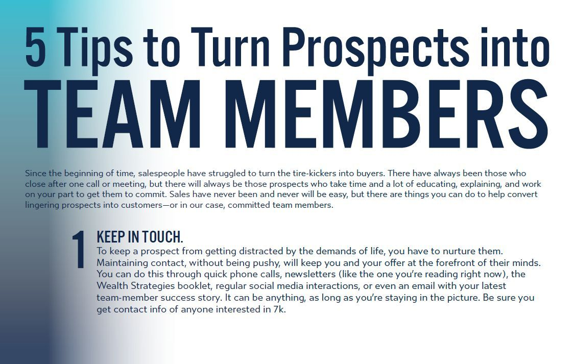 5 tips to turn prospects into team members