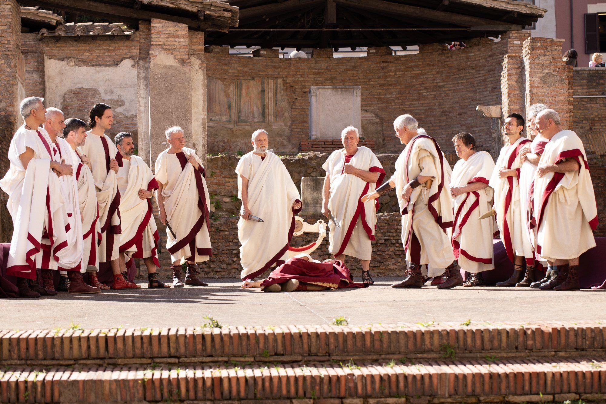 Re-enactment of the Assassination of Julius Caesar