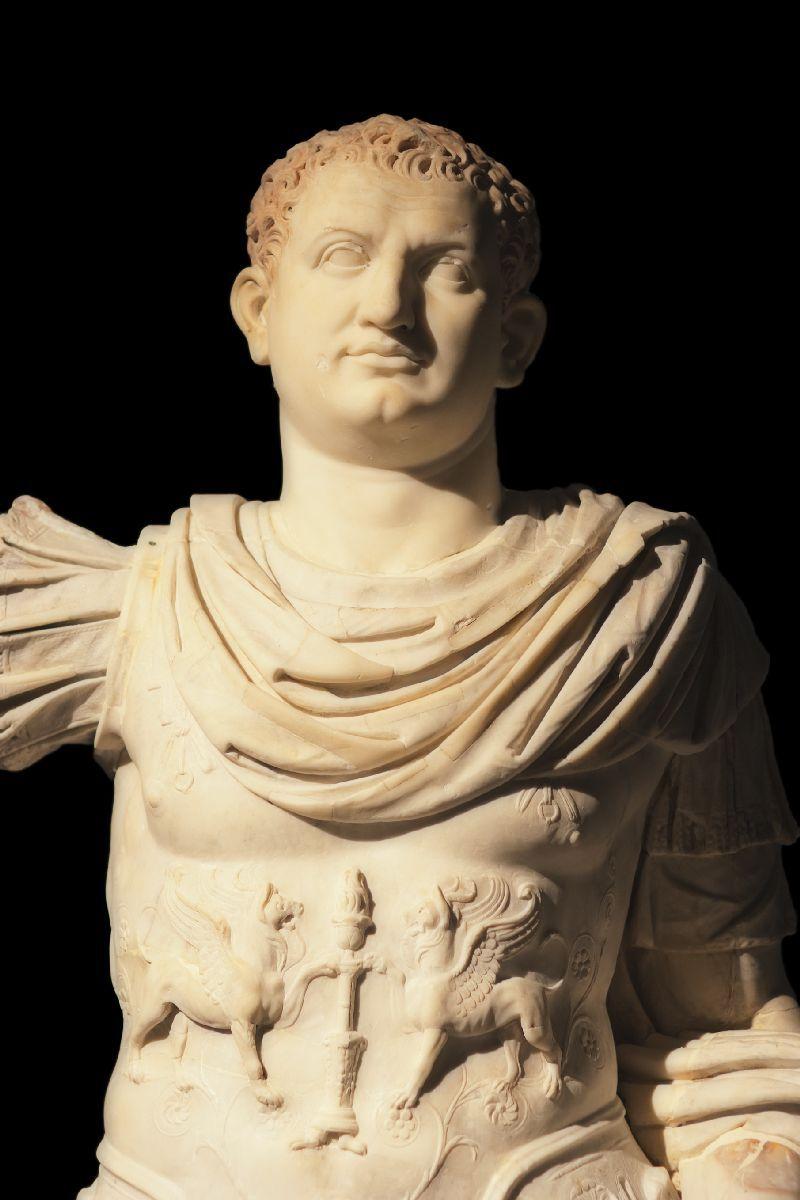 Marble Statue of Titus Excavated Near Pompeii