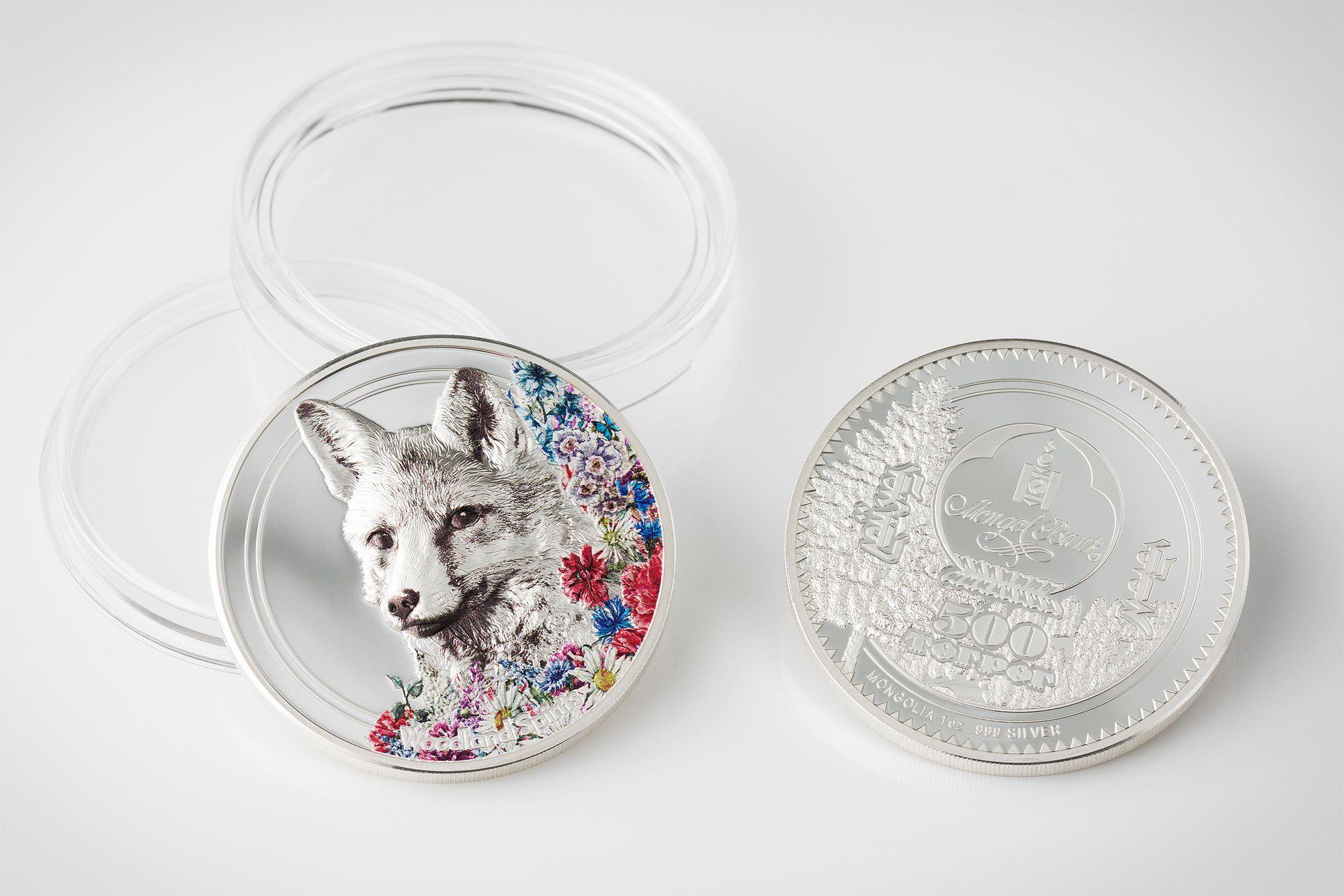 2018 Woodland Spirits Fox 1oz Silver Coin