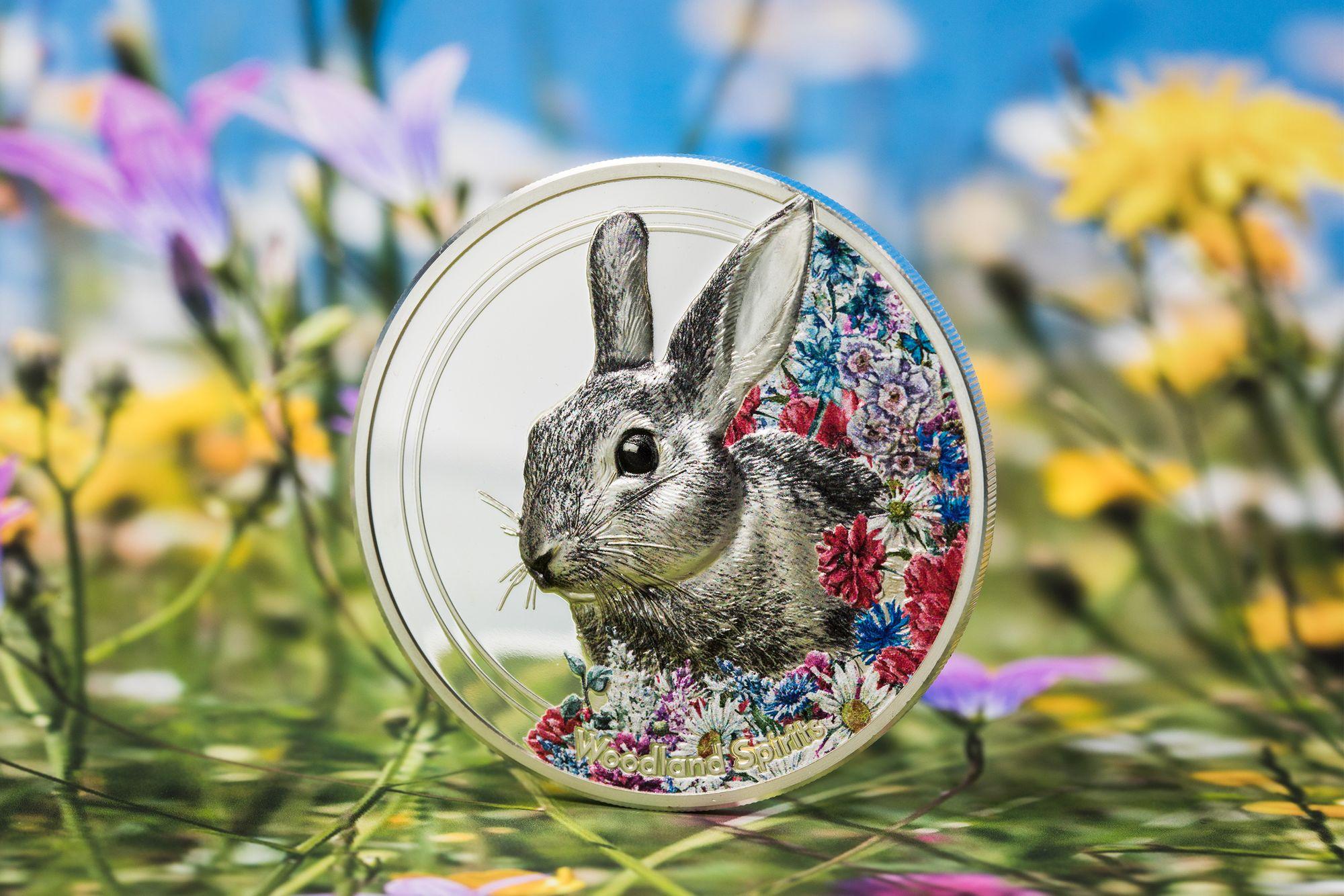 2019 Woodland Spirits Rabbit 1oz Silver Coin