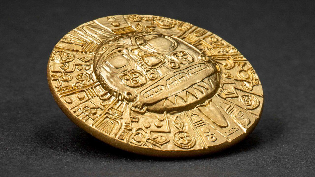 2021 Inca Sun God 1oz Gilded Silver Coin