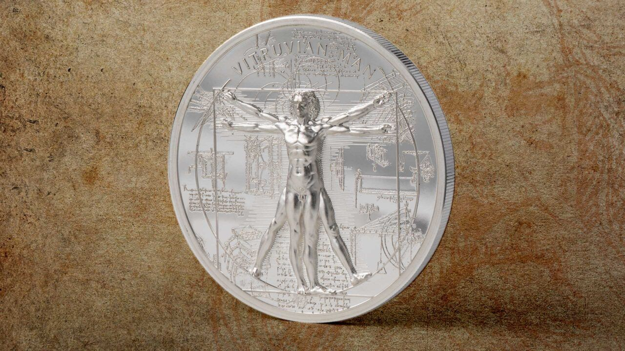 X-Ray Vitruvian Man 1oz Silver Coin