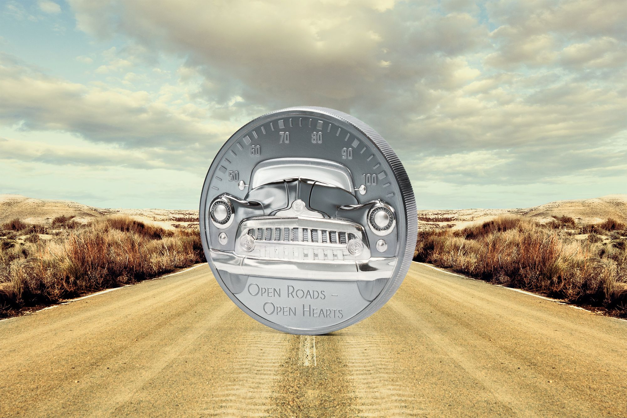 2021 The Journey Classic Car Open Roads 2oz Silver Coin