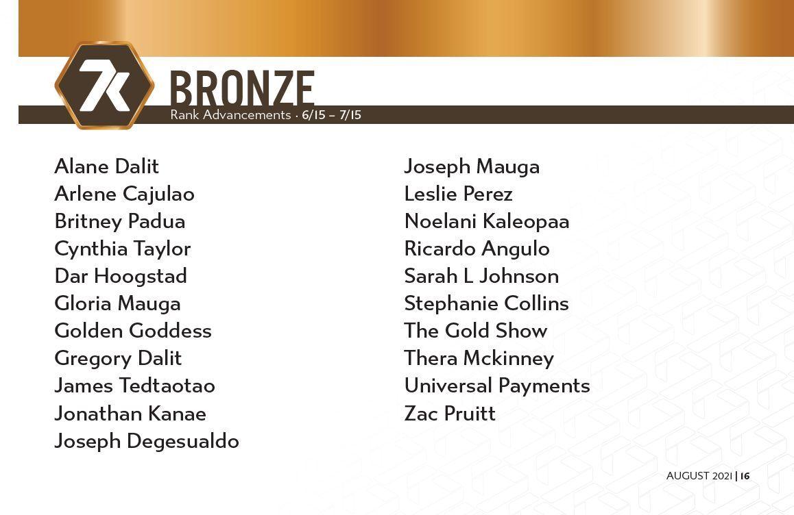 7k Bronze Rankups June - July 2021