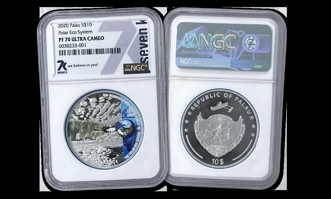 2020 Polar Ecosystem 2oz Silver Coin PF70