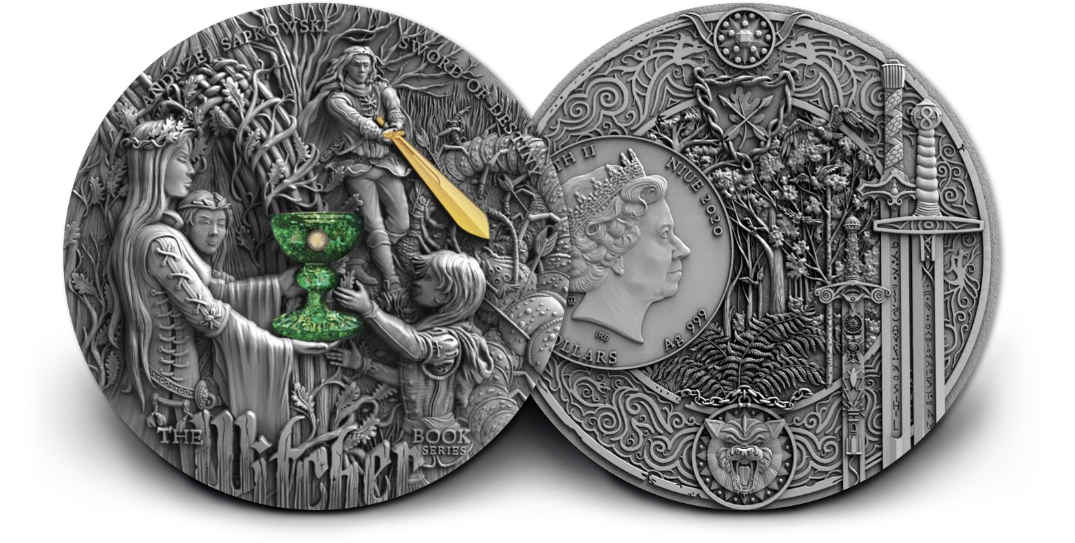 2020 The Witcher Sword of Destiny 2 oz Silver Coin