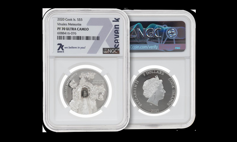 Vinales Meteorite PF70 1 oz Silver Coin 2020