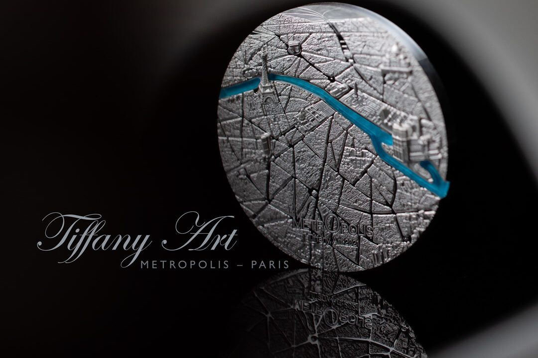 2021 Tiffany Art Metropolis Paris 3oz Silver Coin