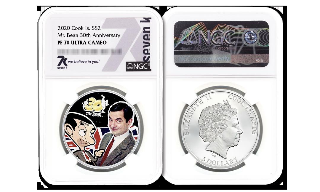 2020 Mr. Bean 30th Anniversary 1oz Silver Coin PF70