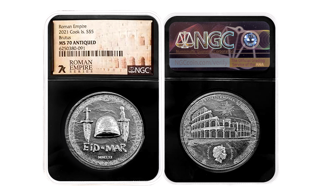 2021 Roman Empire Brutus 1oz Silver Coin MS70