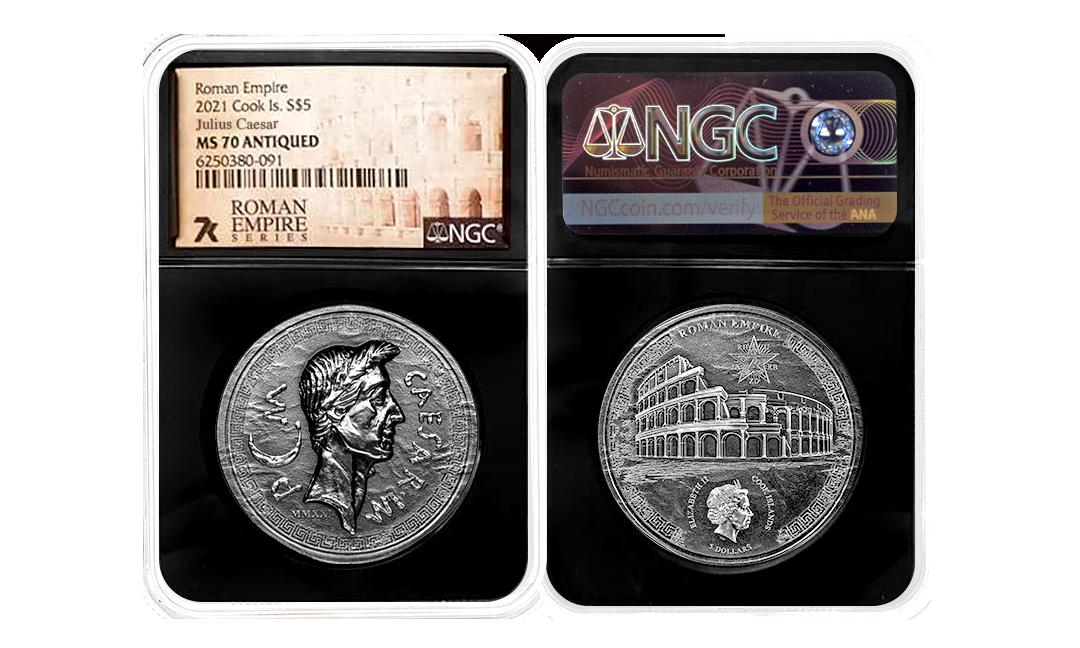 2021 Roman Empire Julius Caesar 1oz Silver Coin MS70