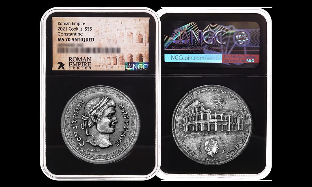 2021 Roman Empire Constantine 1oz Silver Coin MS70