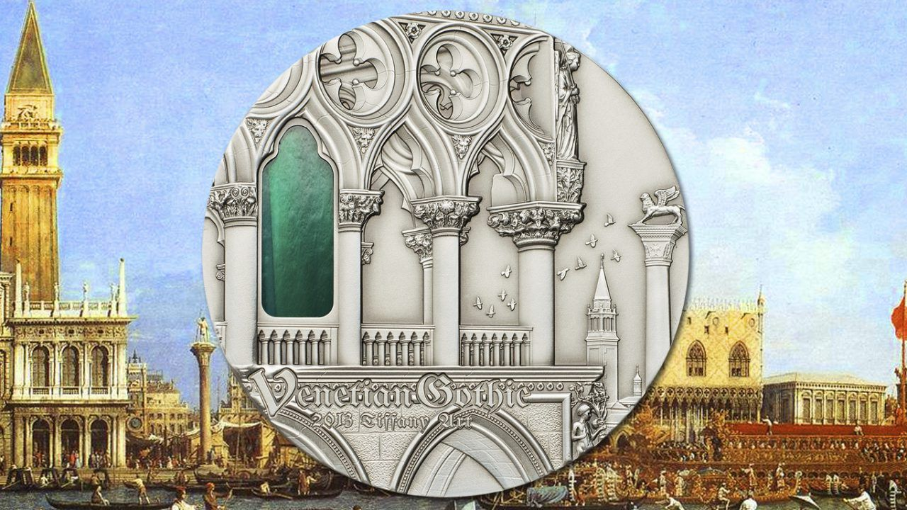 2013 Tiffany Art Venetian Gothic 2oz Silver Coin