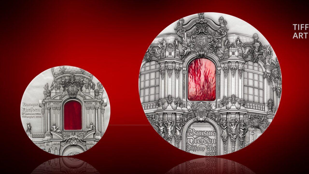 2014 Tiffany Art Baroque Dresden 2oz & 1Kilo Silver Coins