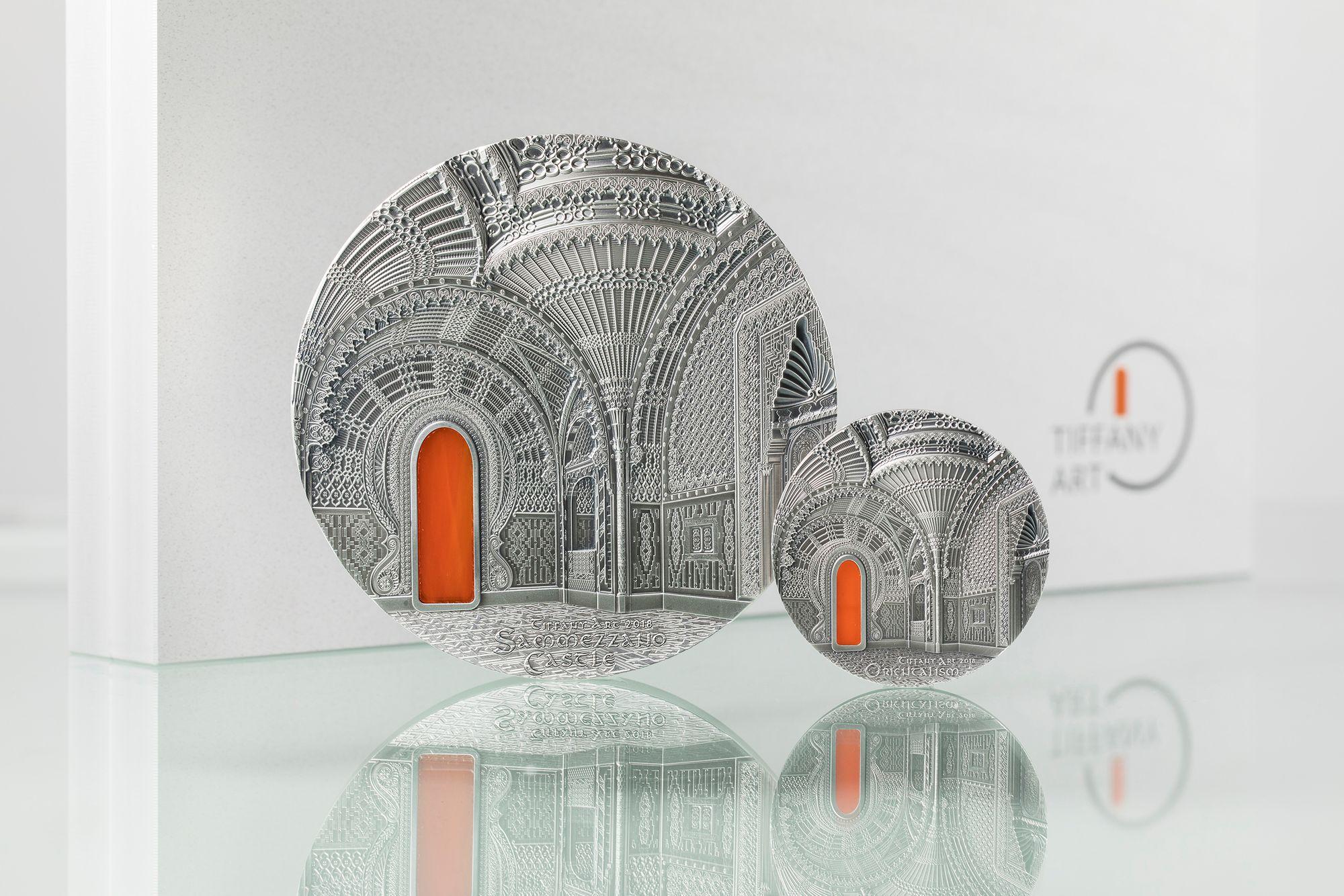 2018 Tiffany Art Orientalism 2oz and Sammezzano 1 Kilo Silver Coins