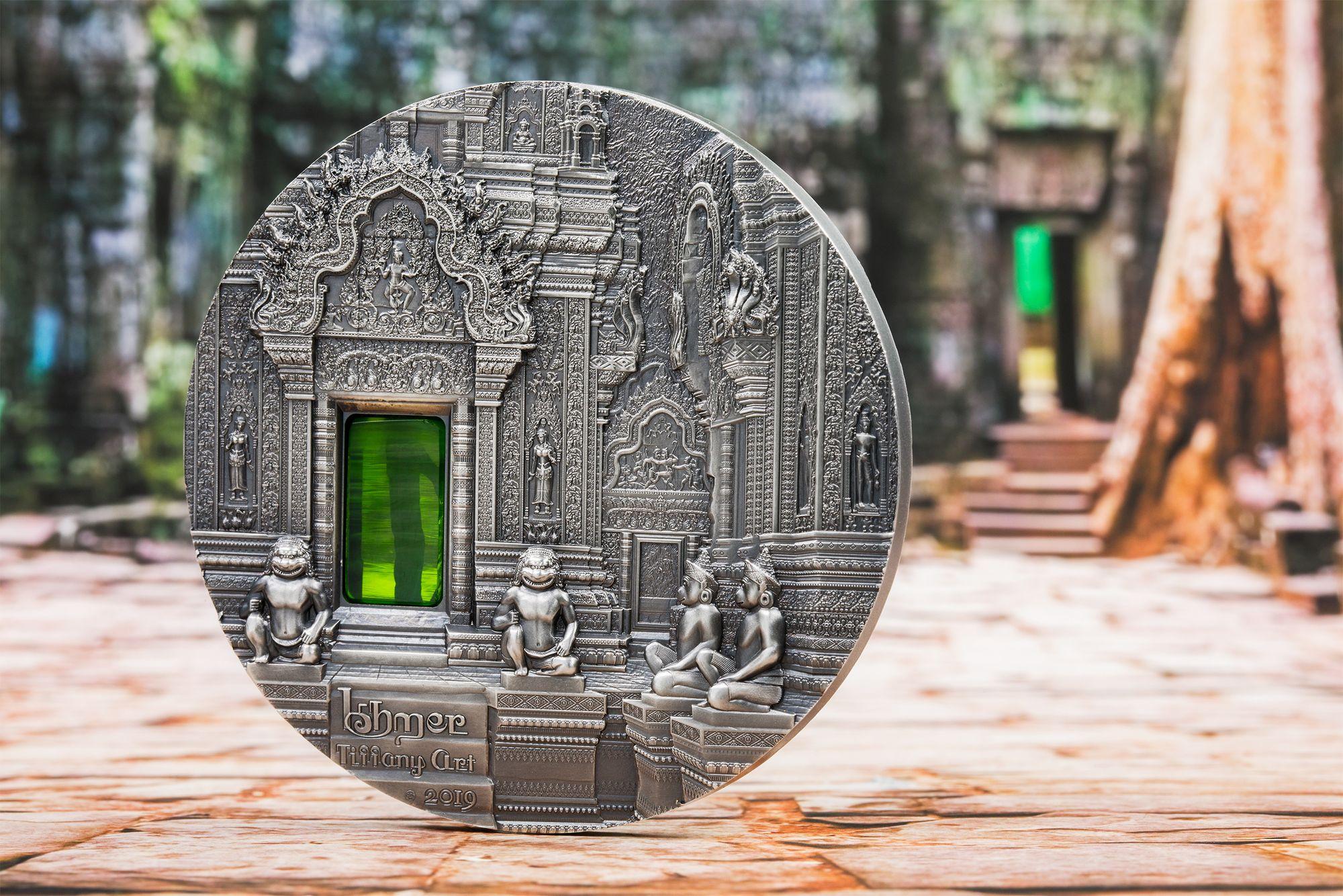 2019 Tiffany Art Khmer 2oz Silver Coin