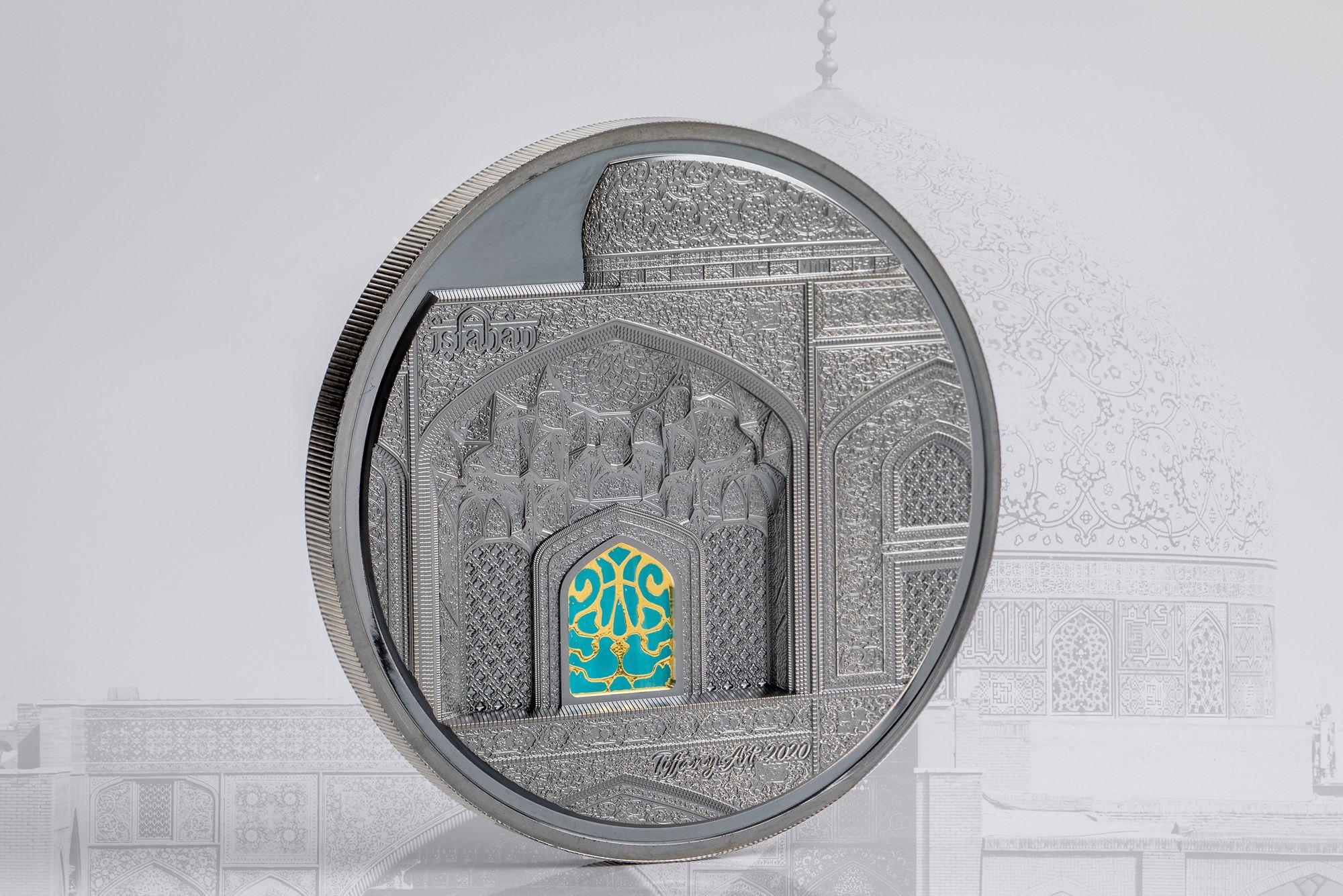 2020 Tiffany Art Isfahan 5oz Silver Black Proof Coin