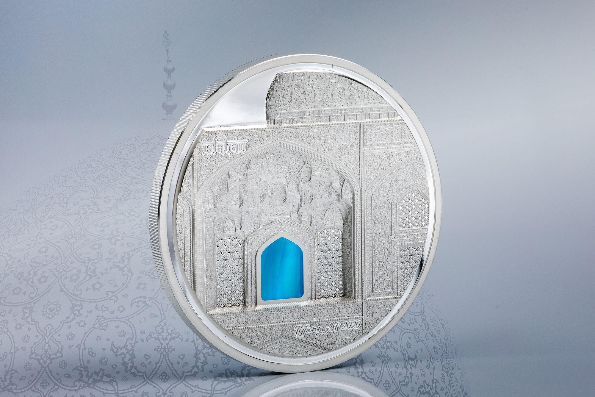 2020 Tiffany Art Isfahan 3oz Silver Proof Coin