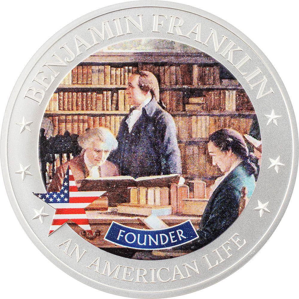 An American Life Benjamin Franklin Founder .5oz Silver Coin