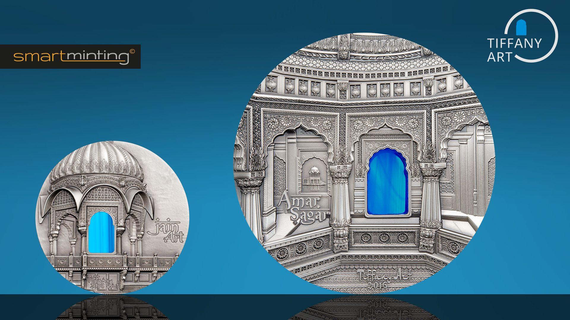 2016 Tiffany Art Jain Art 2oz & Amar Sagar 1 Kilo Silver Coins