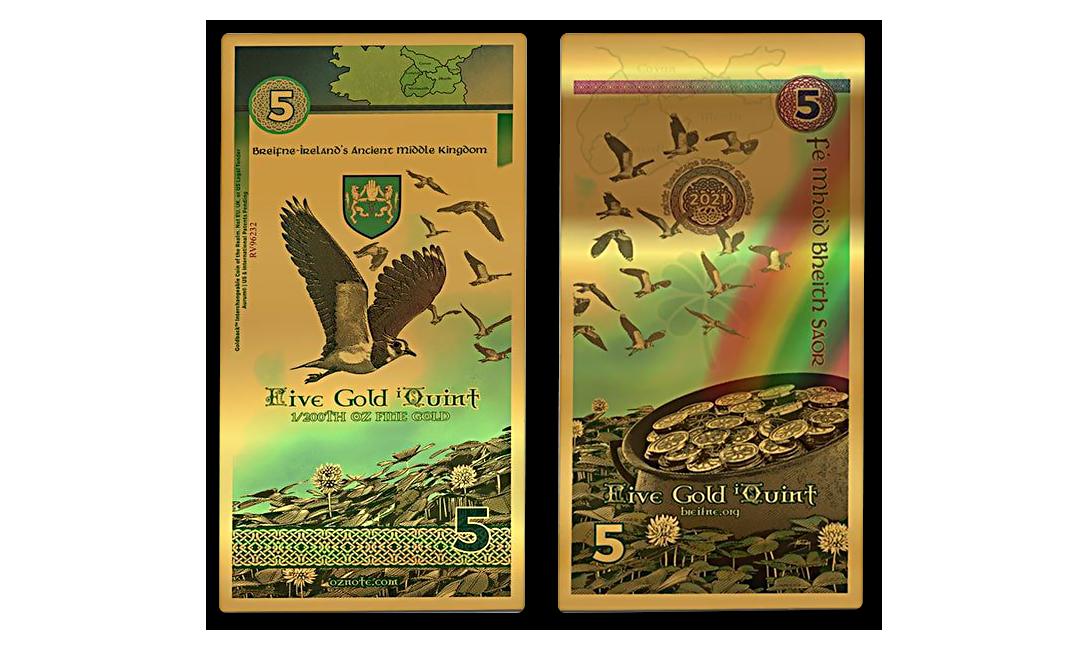 2021 Breifne 1/200th oz Gold Note
