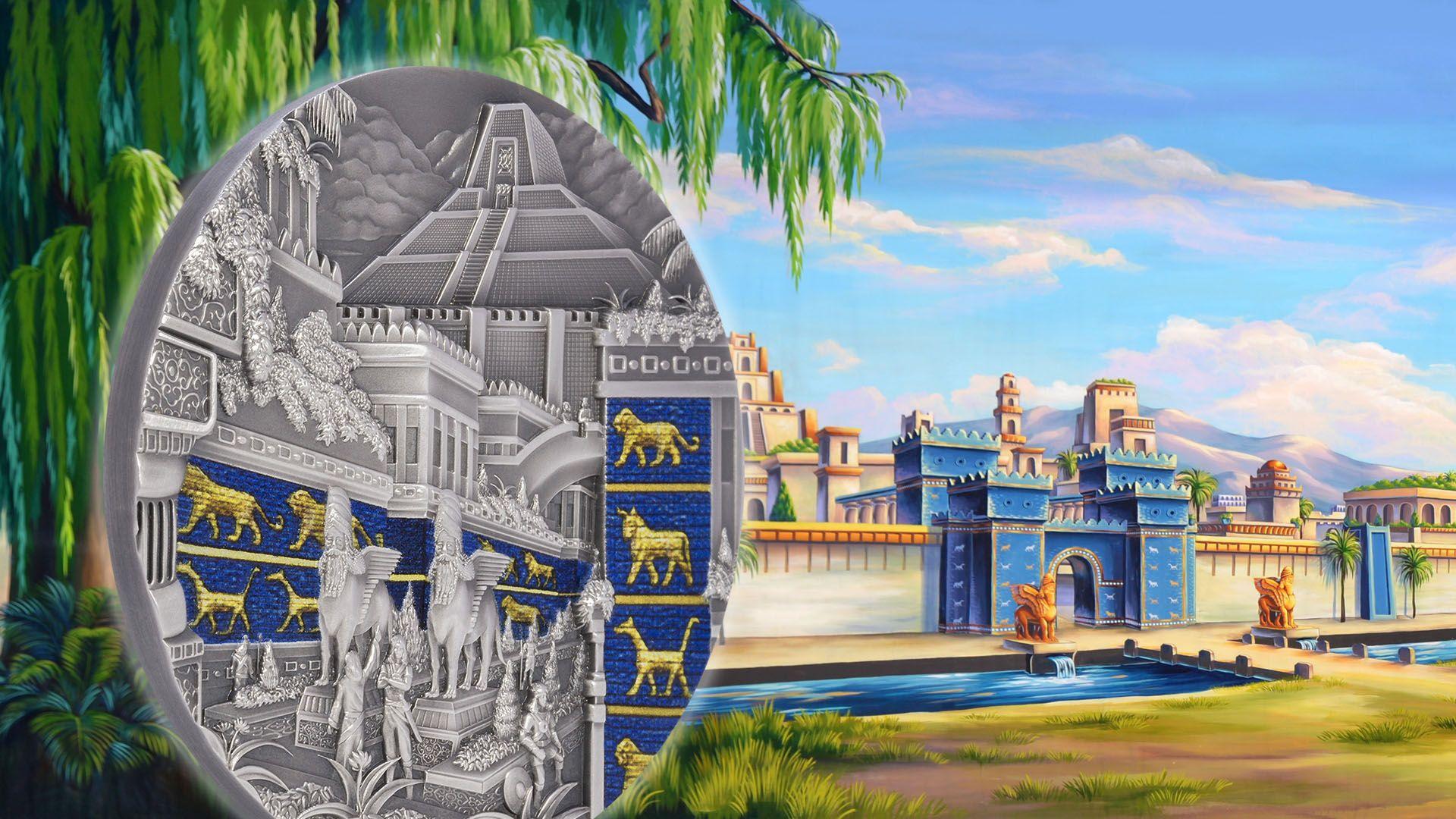 2021 Lost Civilizations Babylon 2oz Silver Coin