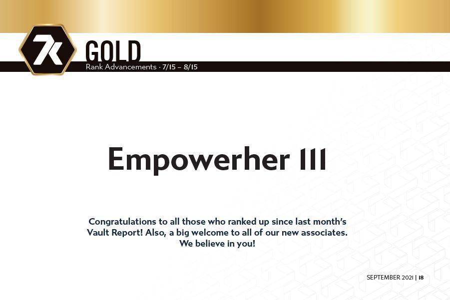 7k Metals Gold Rankups July 15 - August 15, 2021