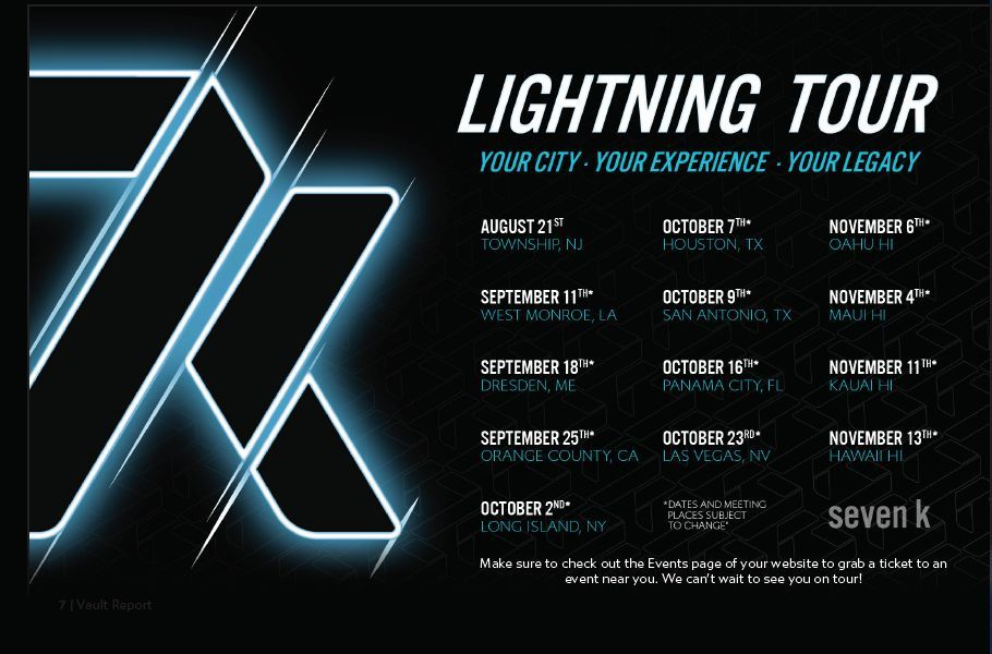 7k Metals 2021 Lightning Tour Schedule