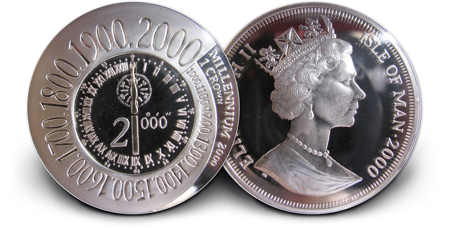 2000 Meridian Line Millennium 1oz Silver Coin