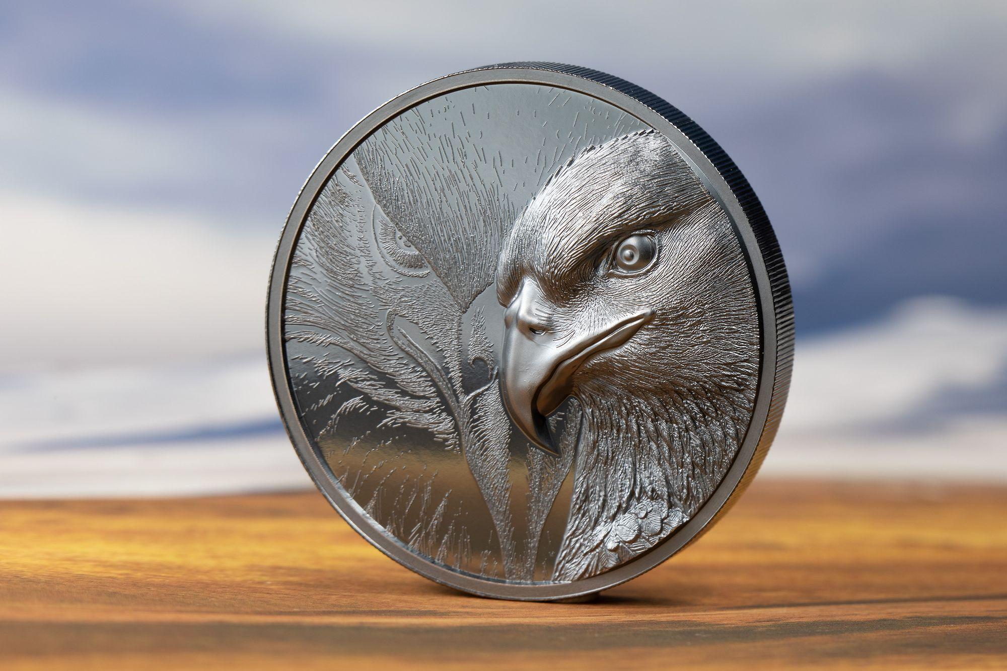 Majestic Eagle Black Proof 2 oz Silver Coin 2020