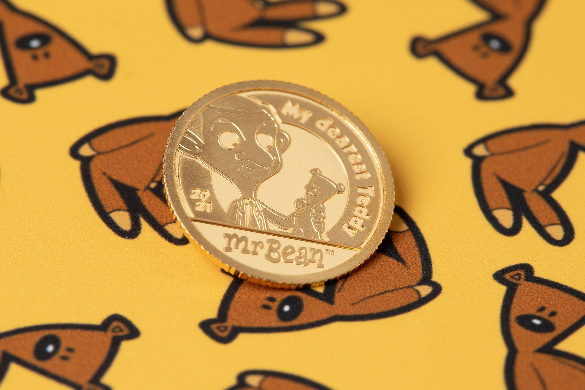 2021 Mr. Bean My Dearest Teddy Half Gram Gold Coin