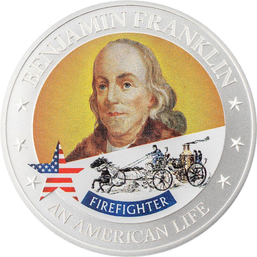 An American Life Benjamin Franklin Firefighter 1/2 oz Silver Coin