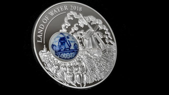2018 Royal Delft Land of Water Windmill 50 gram Silver Coin