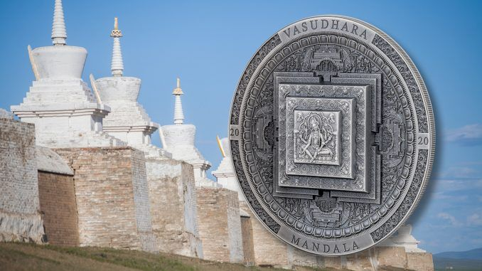 Archeology & Symbolism Vasudhara Mandala 3 oz Silver Coin