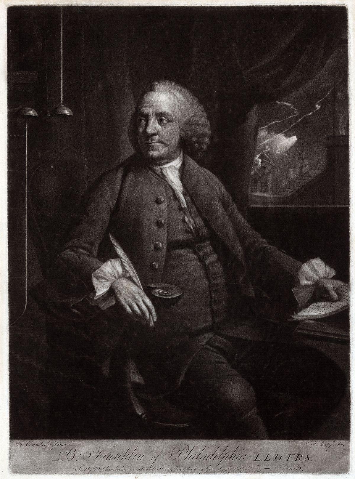 Ben Franklin, inventor of the lightning rod