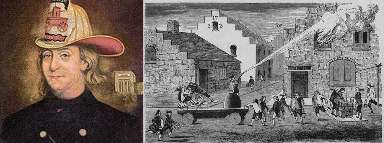 Benjamin Franklin, Philadelphia's first firefighter