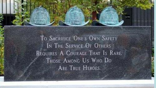 meridian plaza firefighter monument