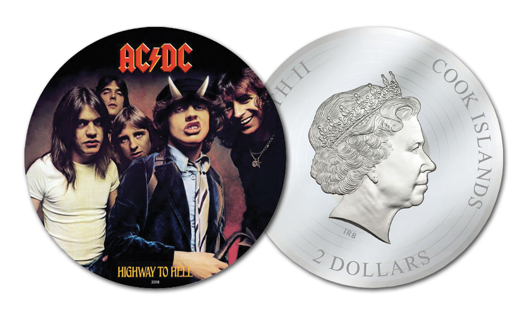 2018 AC/DC Highway to Hell 1/2 oz Silver Foil Set