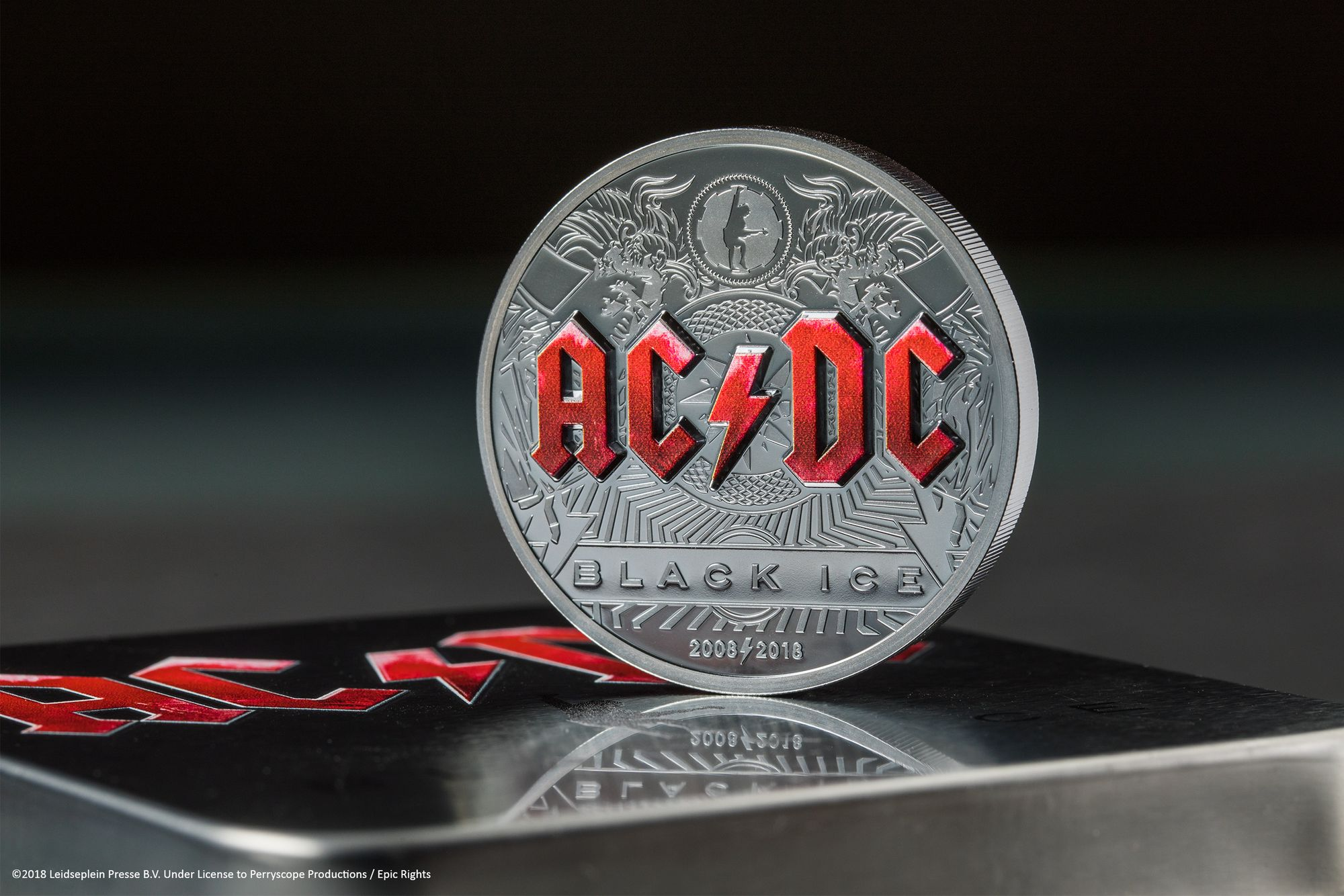 2018 AC/DC Black Ice 2oz Silver Coin