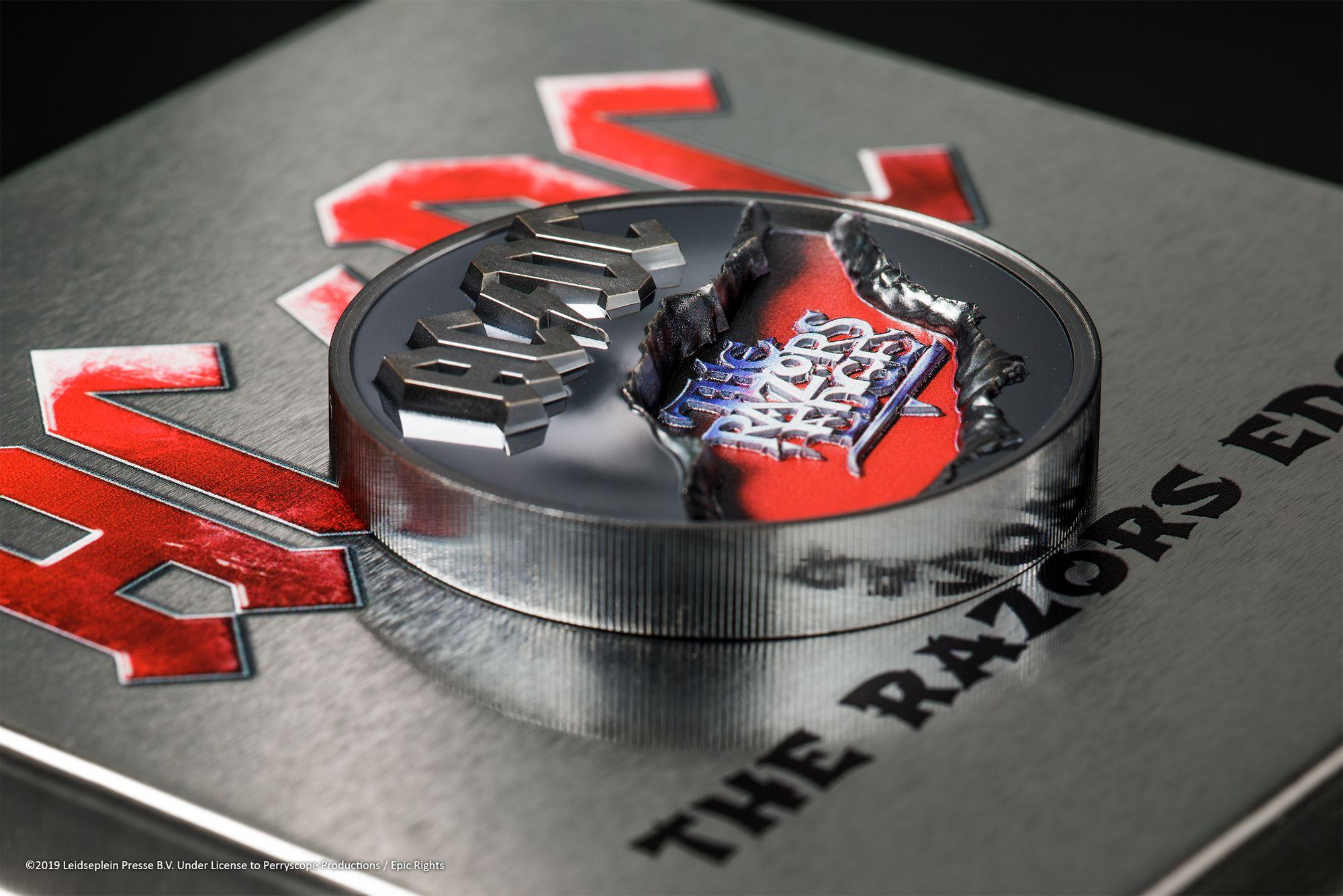 2019 AC/DC The Razor's Edge 2oz Black Proof Silver Coin