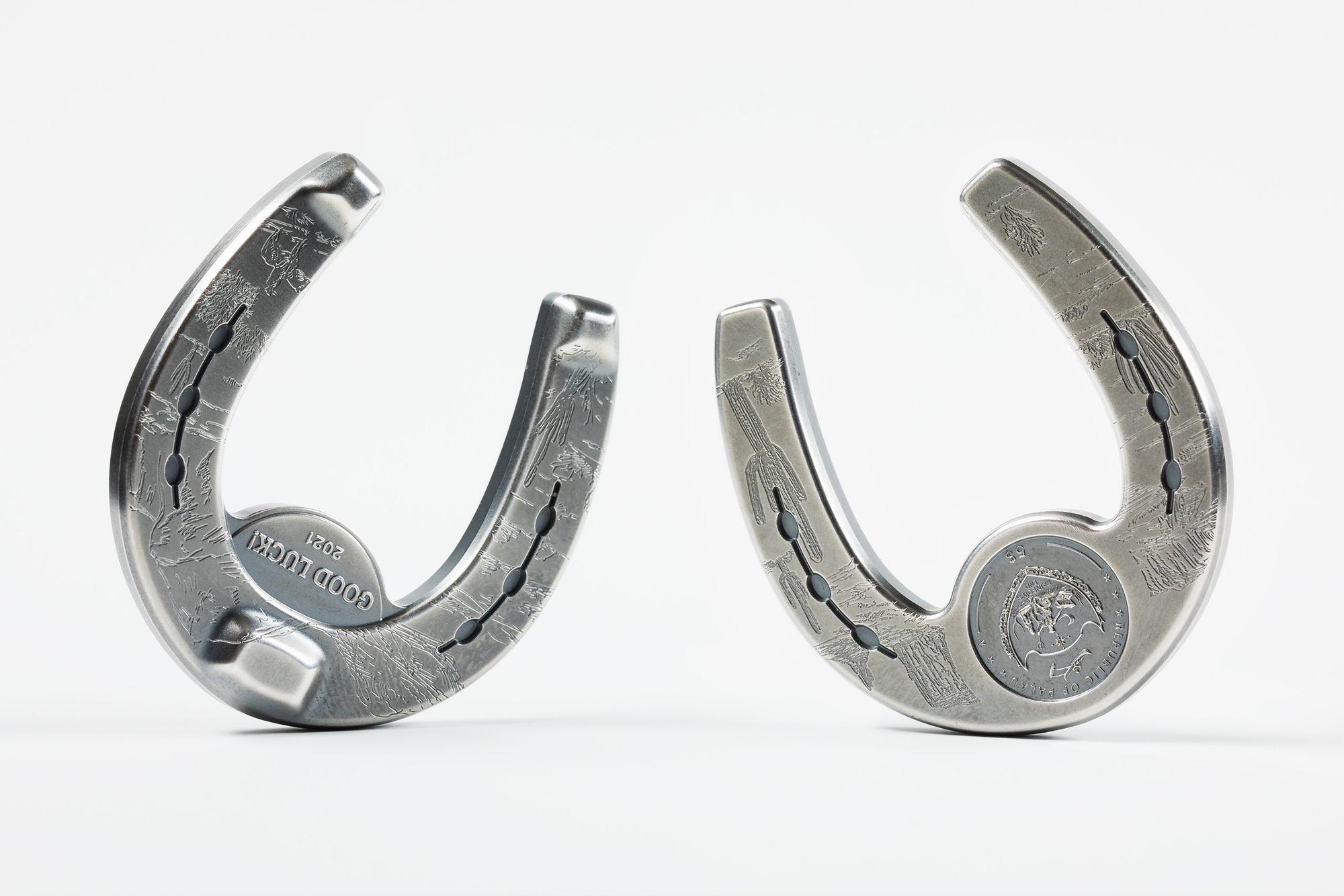 2021 Silver Charms Lucky Horseshoe 1oz Silver Coin
