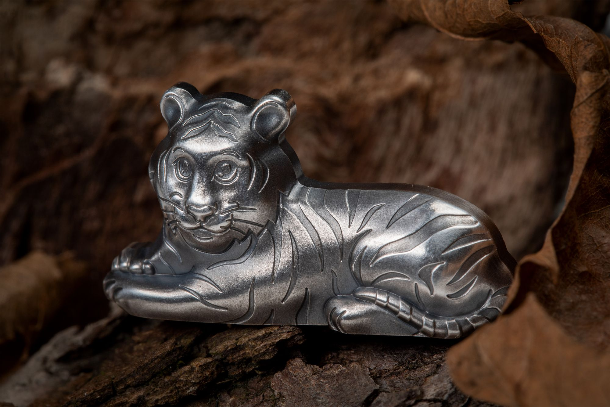 2022 Lunar Year Series Year of the Tiger 1oz Charming Silver Tiger