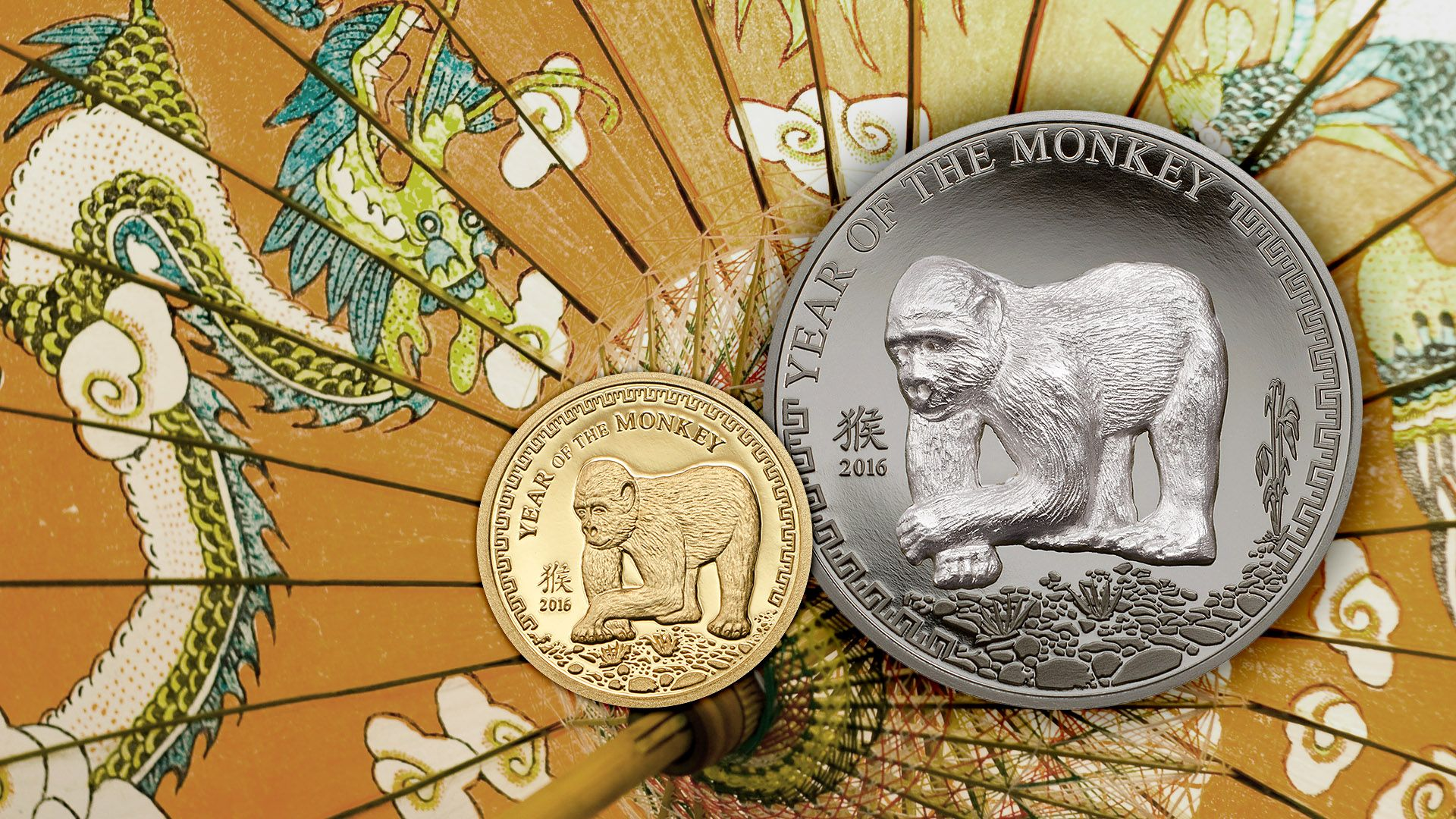 2016 Lunar Year Series Year of the Monkey coins