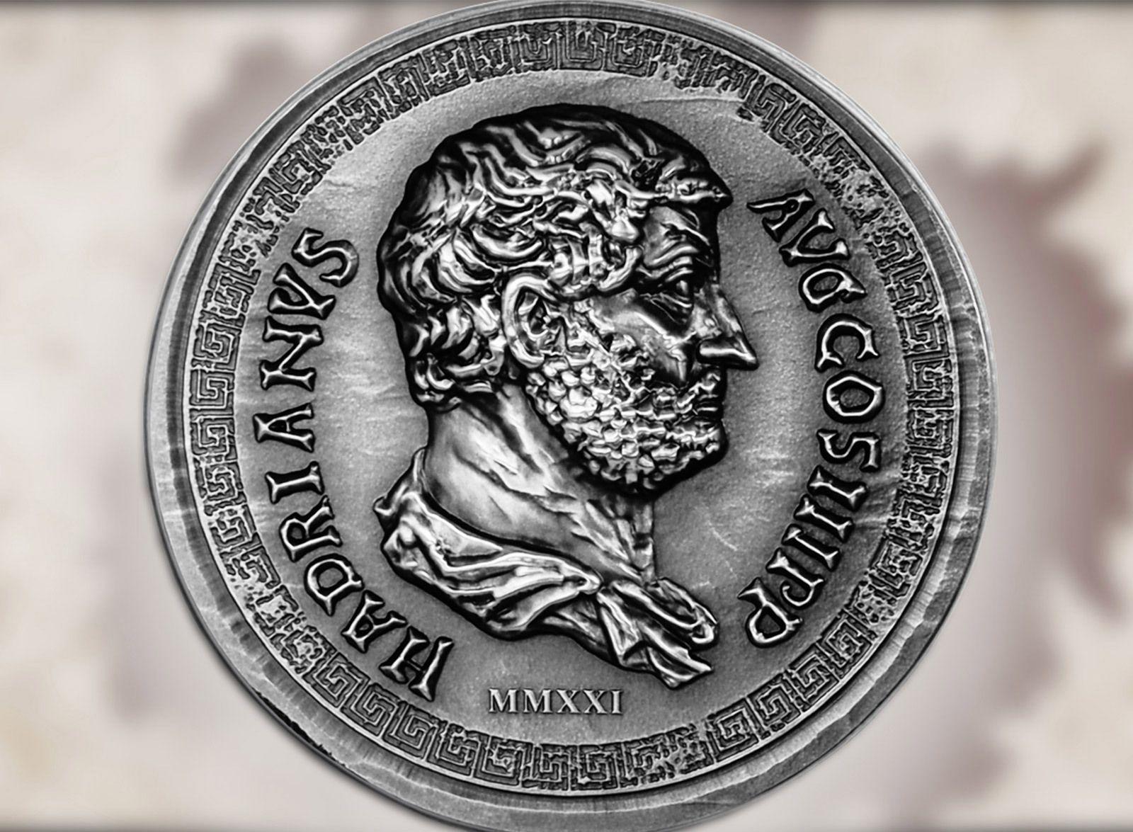 2021 Roman Empire Series Hadrian 1oz Silver Coin